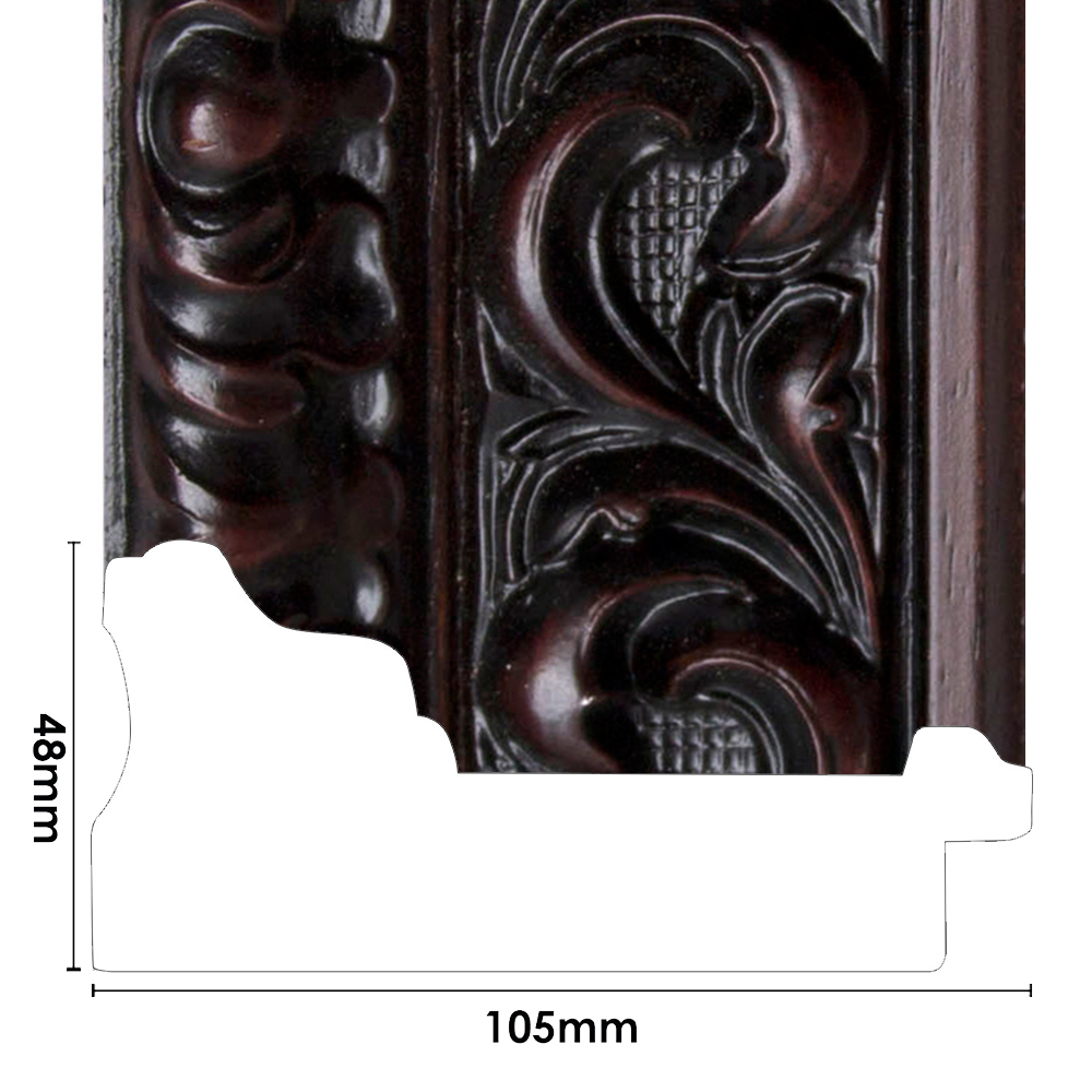 ORNATE COFFEE BEAN STAIN - Picture Frame Moulding -ER079CB