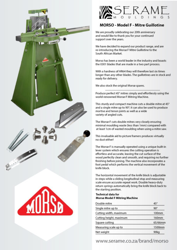 Morso Guillotines & Accessories in stock and available on order ...